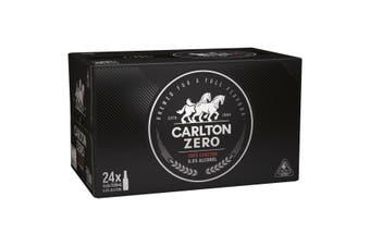 Carlton Zero Beer 24 x 330mL Bottles Carton