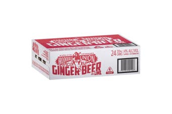 Brookvale Union Spiced Rum and Lime Ginger Beer 24 x 330ml Cans