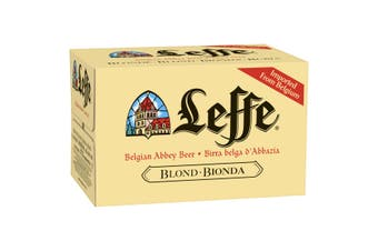 Leffe Blonde Beer Case 24 x 330mL Bottles
