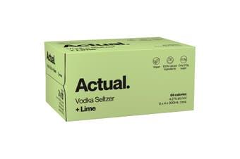 Actual. Vodka Seltzer Lime Case 24 x 300mL Cans