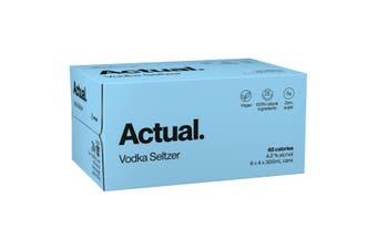 Actual. Vodka Seltzer Pure Case 24 x 300mL Cans