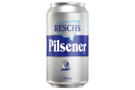 Resch's Pilsener 'Silver Bullet' Beer Case 24 x 375mL Cans Pre Sale. Shipping August 10th