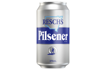Resch's Pilsener 'Silver Bullet' Beer Case 24 x 375mL Cans Pre Sale. Shipping August 13th