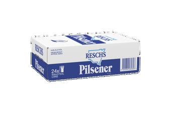 Resch's Pilsener 'Silver Bullet' Beer Case 24 x 375mL Cans