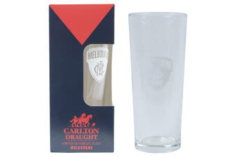 MELBOURNE DEMONS  AFL 425ML BOXED GLASS
