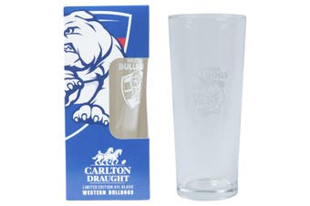 WESTERN BULLDOGS AFL 425ML BOXED GLASS