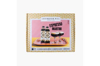 Lexington Hill Gift Pack. 2 x Expresso Martina 300ml Bottles + 2 Martini Glasses