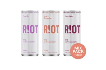 Riot Wine Co 2019 Mix Pack 12 x 250mL can