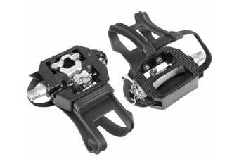"Wellgo E229 Shimano SPD Compatible 9/16"" Thread Spin Bike Pedals  - Compatible with Peloton Bike"