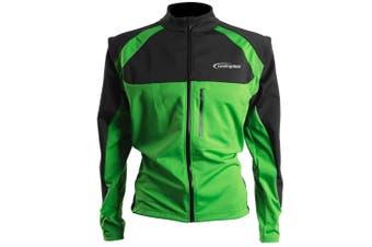 Cycling Bicycle Bike Jersey Wind Rain Jacket Vest Green 3XL