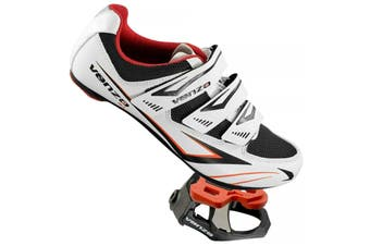 """Venzo Road Bike Shimano SPD SL Look Cycling Bicycle Shoes with Look Keo 9/16 Sealed Clipless Pedals and Cleats 46"""""""