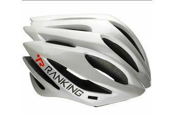 RANKING Pro Road Bike Bicycle Cycling Adult Helmet White M