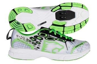 Venzo Mountain Bike Shimano SPD Shoes Green White 44.5
