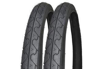 KENDA K838 Mountain Bicycle Slick Wire Tires Blackwall 26x1.95 Pack of 2