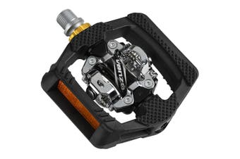 VENZO Pop-Up Mountain Bike Shimano SPD Compatible CNC-machined Cr-Mo Sealed Pedals With Cleats