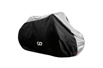 Bike Cover for Outdoor  Bicycle Storage -3 Bikes - Heavy Duty 190T Polyest Material, Water Repellent Conditions for Mountain & Road Bikes