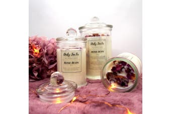 Rose Buds Scented Soy Candle - Large (300g)