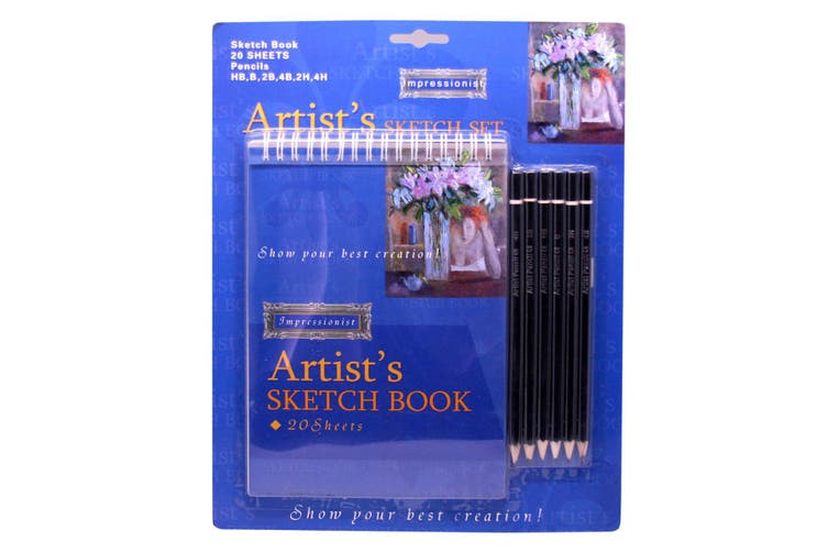Artist Sketch Book Large With Pencils