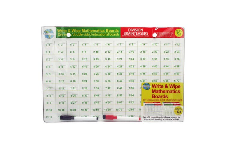 Write & Wipe Mathematics Boards Set of 2