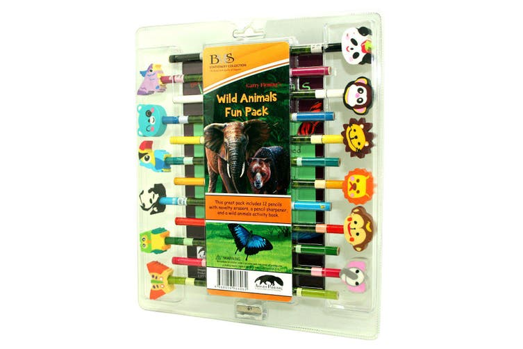 Garry Fleming - Set Of 12 Pencils With Book And Sharpener (Wild Life)