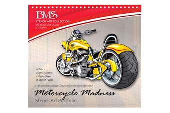 Motorcycle Madness Stencil Art Portfolio