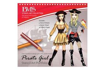 Pirate Girl Stencil Art Portfolio