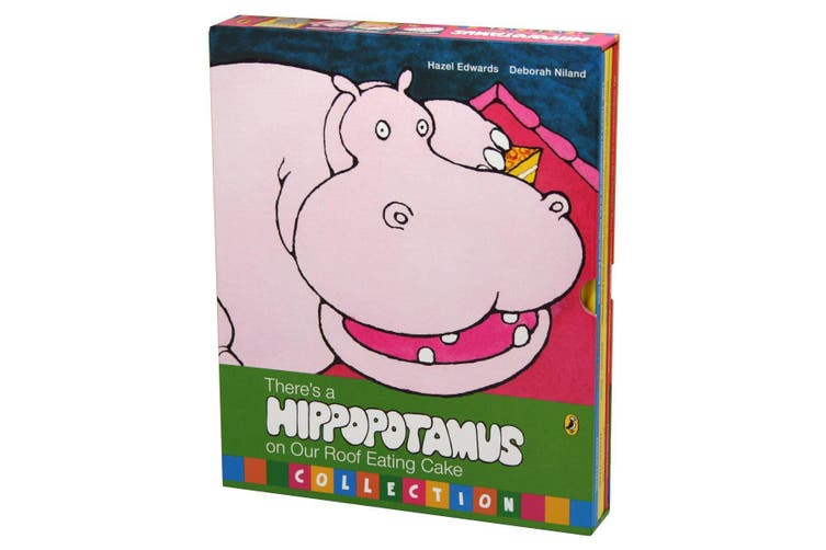 There's A Hippopotamus On Our Roof Eating Cake 4 Book Set