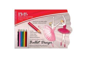 Ballet Design Folio With Pencils & Adhesive Appliques