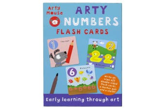 Arty Numbers Flash Cards