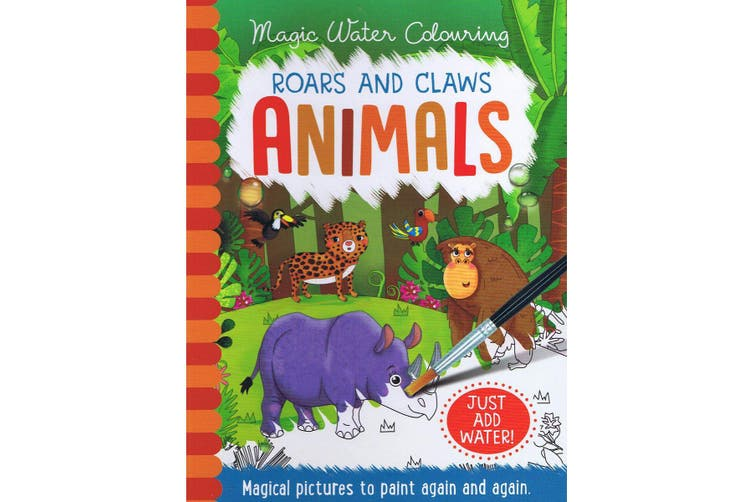 Magic Water Colouring Roars & Claws Animals