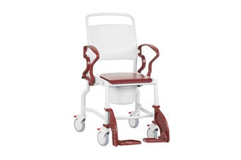Rebotec Bonn - Mobile Commode Chair, Red