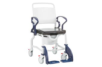 Rebotec Berlin - Shower Commode Chair, Blue