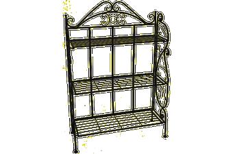 RESERVOIR - 3 Tiers Plant Stand Pot Rack Garden Flower Display Shelf Storage (Black)