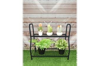 BAYSIDE - 2 Tiers Plant Stand Pot Planter Rack Garden Flower Display Shelf Storage