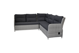 ARMADALE - 8 Seater Outdoor Wicker Recliner Lounge Dining Set