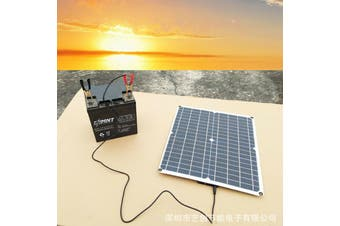 10W Solar Panel 12V 5V USB Weatherproof Battery Car Charger Camping Home with 12V Car adapter charger