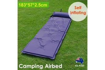 Self Inflating Mattress Airbed Camping Hiking Mat Sleeping Camp with Pillow Bag