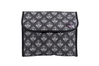 Dilly's Collections Flip Hanging Cosmetic Bag Makeup Bag Extra Room Travel Set - DAMASK