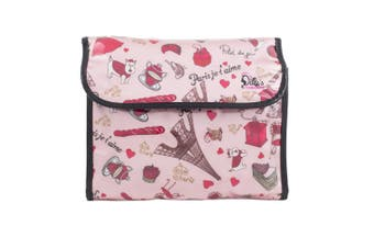 Dilly's Collections Flip Hanging Cosmetic Bag Makeup Bag Extra Room Travel Set - PARIS