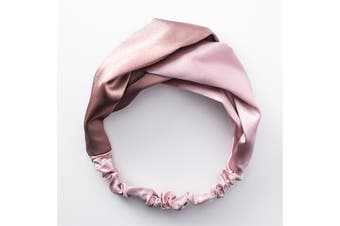Criss-Cross Elastic Pink Headband