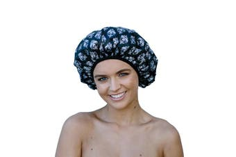 Dilly's Collections Luxury Microfibre Shower Cap Bath Hat Hair Care Protection - DAMASK