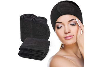 Dilly's Collections Microfibre Headband Hair Makeup Application Accessory - BLACK