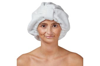 Dilly's Collections Microfibre Soft Absorbent Hair Protection Luxury Hair Turban - WHITE