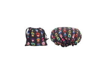 Dilly's Collections Waterproof Shower Cap w/ Matching Satin Bag - BABUSHKA