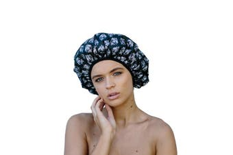Dilly's Collections Luxury Microfibre Extra Large Shower Cap Bath Hat Hair Care Protection - XL - DAMASK