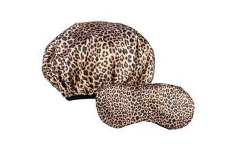 Dilly's Collections Beauty Sleep Microfibre Shower Cap Combo Pack - LEOPARD