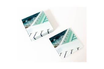 Artist Lab - JD - Stripes Coastal Glass Coaster Set (MIN 2) - Without Box