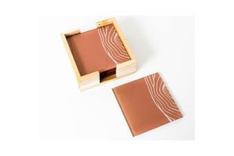 Artist Lab - Natapart - Uluru Lines C Coaster Set (MIN 2)