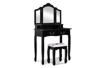 Artiss Dressing Table with Mirror - Black