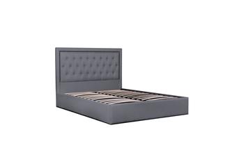 CBD6008-YO Fabric King Bed Frame in Lunar Grey with Tufted Headboard